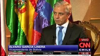 Entrevista a lvaro Garca Linera Vicepresidente de Bolivia se encuentra de visita en Chile.