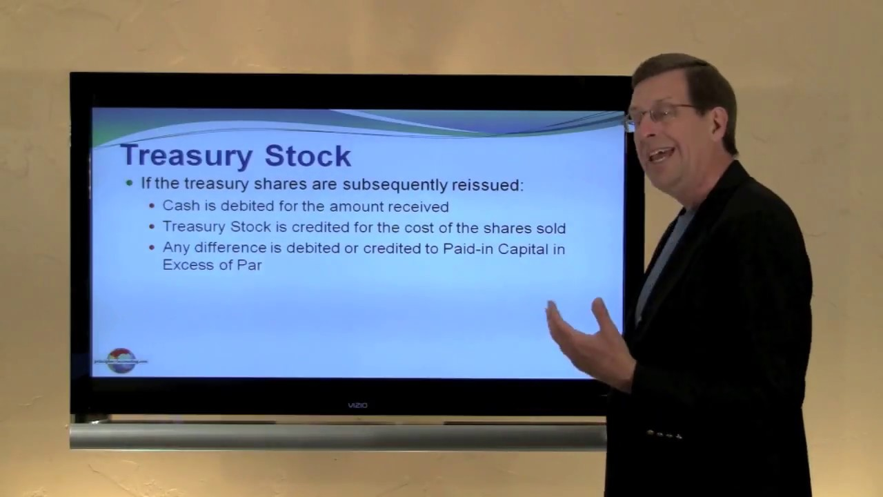 Treasury Stock - principlesofaccounting com