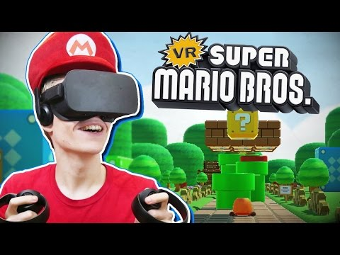 SUPER MARIO IN VIRTUAL REALITY!  | Super Mario Bros VR (Oculus Rift CV1 Gameplay)