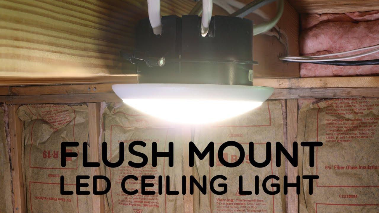 Flush Mount Led Ceiling Light Youtube