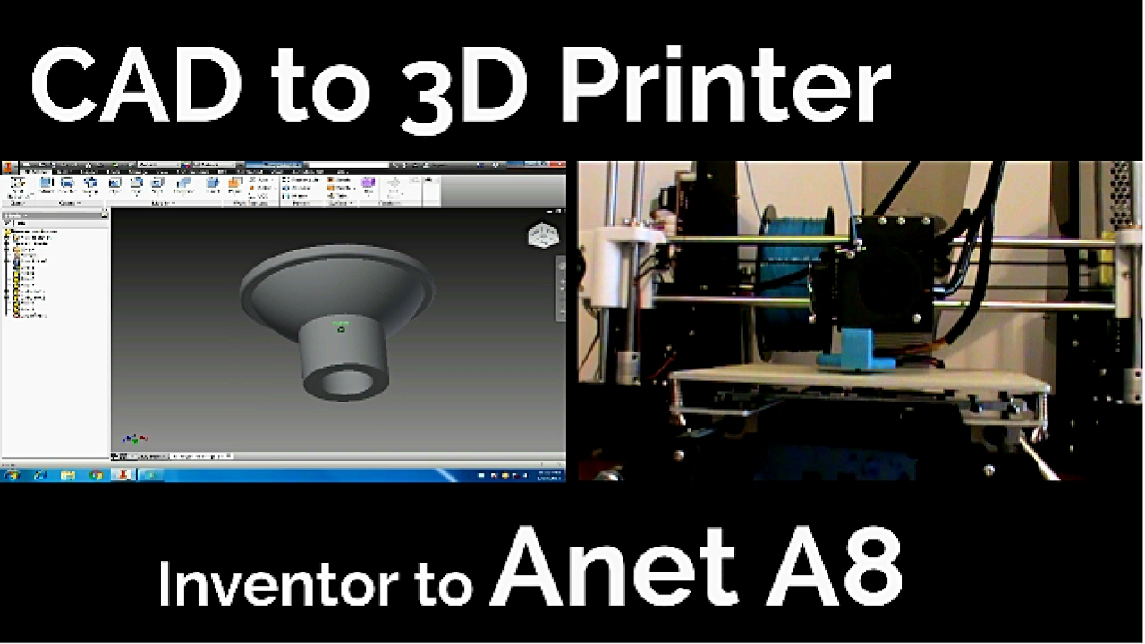 Cad Files To 3d Printer Inventor Professional To Anet A8