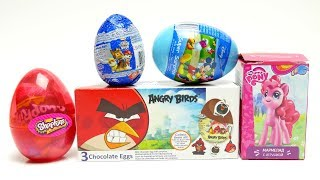 Angry Birds My Little Pony and Shopkins Surprise Egg New Set with Toys