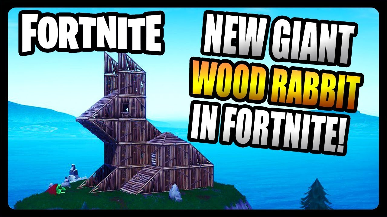 New Giant Wooden Rabbit Spawned In Snobby Shores Fortnite Season 8
