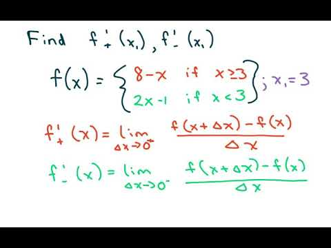 How To Find The Derivative Of a Piecewise Defined Function at f(3)