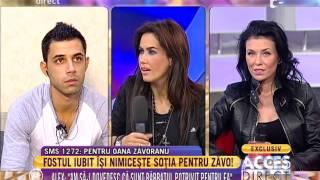 Alex își atacă soția pentru Oana Zăvoranu
