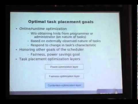 Using performance counters to optimize task placement on multi-core systems