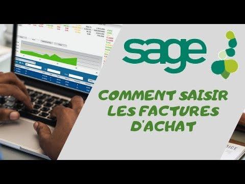 Download COMMENT SAISIR DES FACTURES D'ACHAT AVEC SAGE COMPTABILITÉ