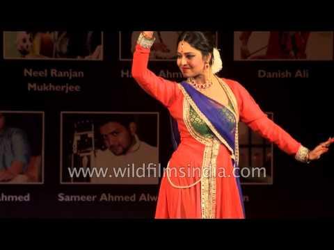 Sangeeta Majumder performs Indian classical dance 'Kathak'