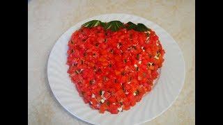 САЛАТ рецепт Салат КЛУБНИЧКА салат с курицей  ВКУСНЫЙ и СЫТНЫЙ летний салат Salad