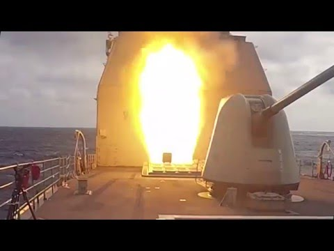 Group of Six US Navy AEGIS Vessels Fire SM-2 Surface to Air Missiles During Exercise