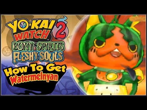 Yo-Kai Watch 2 - How To Get Watermelnyan With QR Code! [YW2 Tips & Tricks]