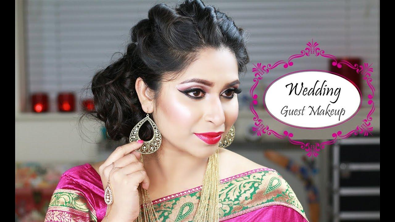 GRWM | Indian Wedding Guest Makeup | Wedding Makeup - YouTube