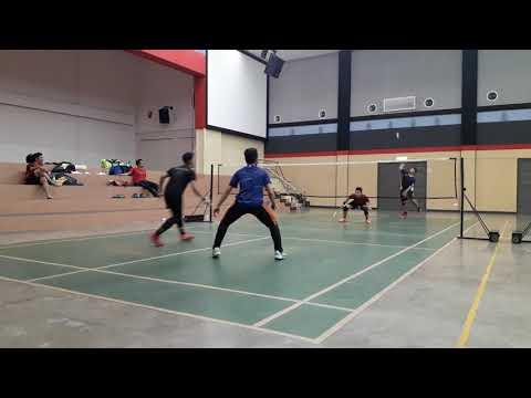 SUBC Badminton Training Halim & Akmal Vs Yond & Indra