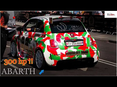 Gumball 3000 - 300HP Fiat 500 Abarth LOUD sound!! - Team 86