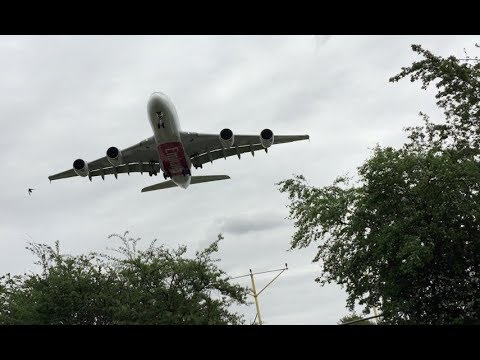 Filming Wide Bodies Aircraft under Glide slope with iPhone Impressive viewing spot London Heathrow