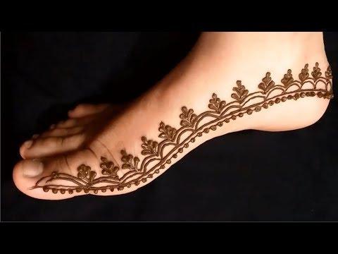 Indo Arabic Mehndi Design For Leg! Feet Mehendi Design! Leg Foot Mahendi  Design 2019
