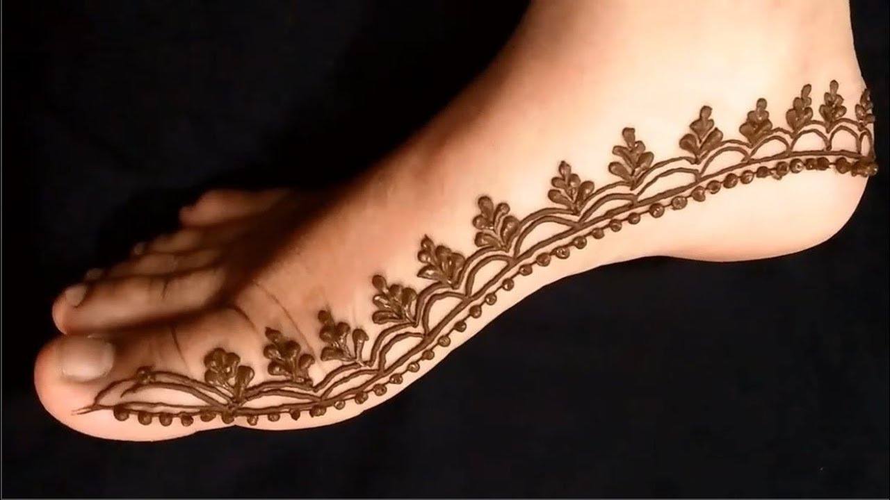 Indo Arabic Mehndi Design For Leg! Feet Mehendi Design! Leg Foot Mahendi  Design 2019
