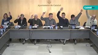 Ajuntament de Calafell: sessió plenària ordinària, 5 de març de 2018