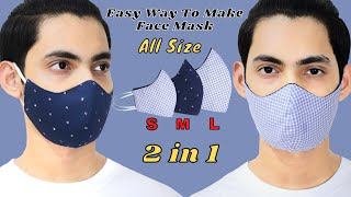 Easy Way To Make A Perfect Fit Face Mask All Sizes S M L DIY Face Mask Easy Quick Mask
