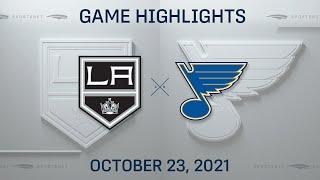 NHL Highlights   Kings vs. Blues - Oct. 23, 2021