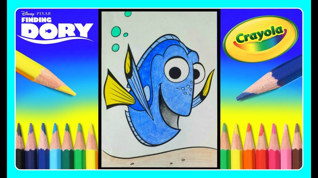 finding dory crayola giant coloring pages! finding dory