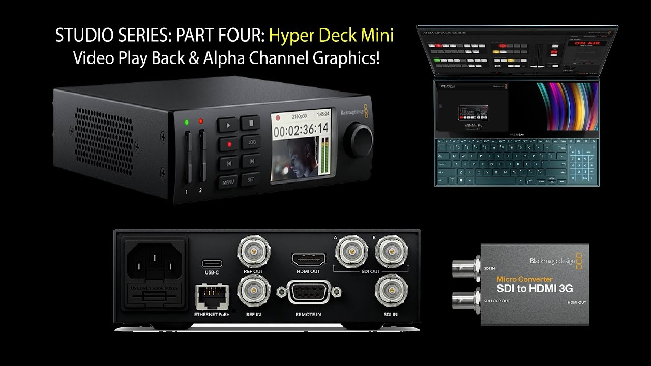 HyperDeck Mini Motion Graphics Video Play & Recording for LIVE EVENTS!