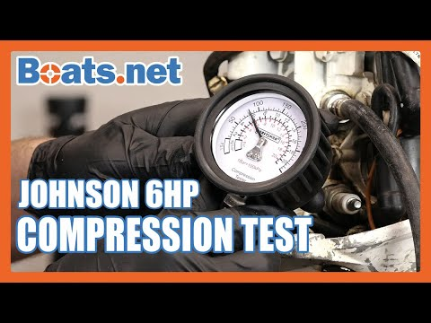 Johnson 6HP Outboard Compression Test | Small Outboard Compression Test |  Boats net