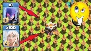 1 Max Witch & 100 Healer Vs Full Base Archer Tower | Can She Survive It? | Coc Private Server