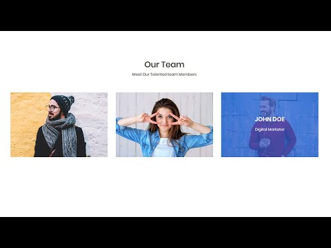 Team Section UI Design with Image Overlay