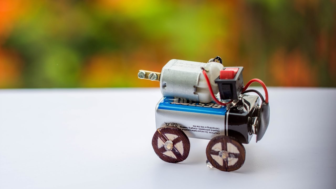 How To Make A Motor Car For Kids Make A Crazy Car Toy Car