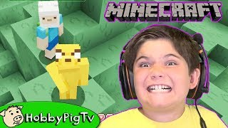 Minecraft First Night Adventure Time Texture Pack Part 1 HobbyPigTV