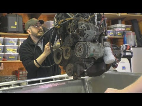 Diesel Jet Boat Build - Part 7 - Foam Cover and Engine Install