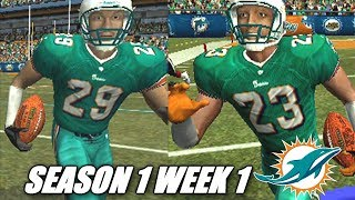ALL ABOUT THE DOLPHINS - MADDEN 2004 DOPLHINS FRANCHISE VS TEXANS - s1w1