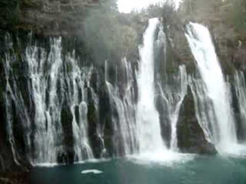 Waterfall at Burney Falls State Park, California - YouTube