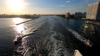 Cruise Ship Sailaway from Port Everglades (Timelapse)
