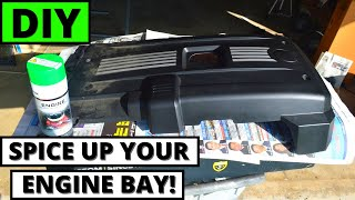 HOW TO SPRAY PAINT YOUR PLASTIC ENGINE COVER (BMW E90)