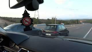 BMW E39 M5 440 BHP vs PEUGEOT 106 GTI 200 BHP  rolling  GG vs ROL