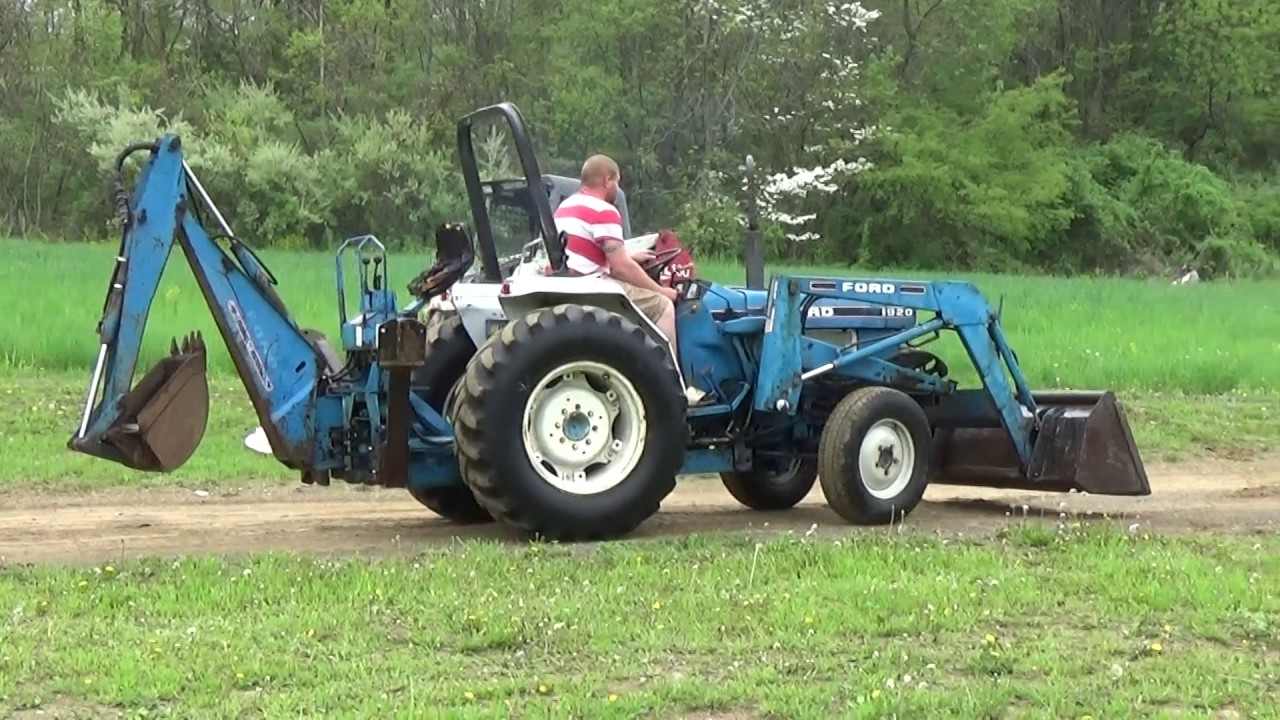 New Holland Ford Tractor 1920 : Ford tractor with loader and backhoe hp