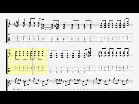 Muse Starlight Guitar Tab Youtube