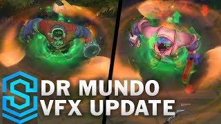 Dr Mundo Visual Effect Update - All Skins Comparison | League Of Legends