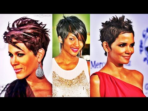 chic-short-straight-hairstyle-short-hairstyles-for-black-women-2017