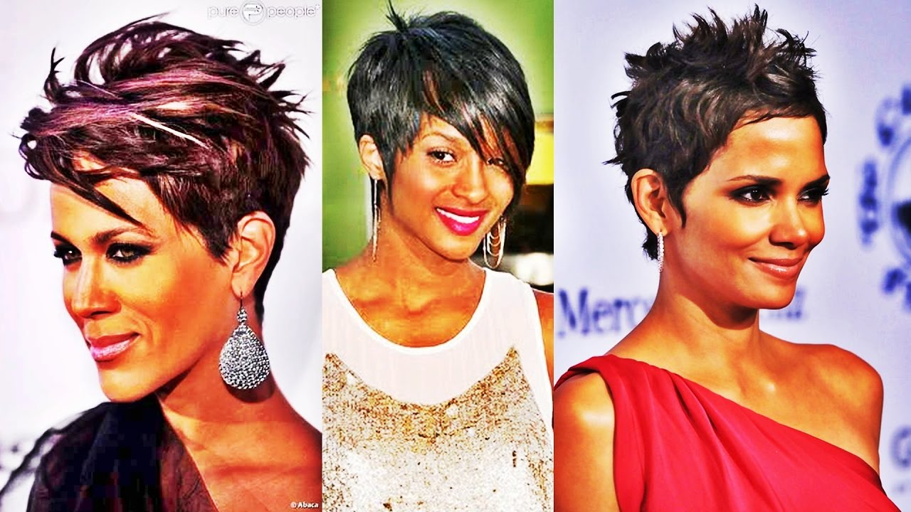 Chic Short Straight Hairstyle Hairstyles For Black Women 2017