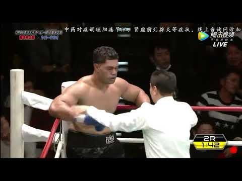 他曾是中国泰森张君龙劲敌,日本红毛怪霸气击倒重磅壮汉