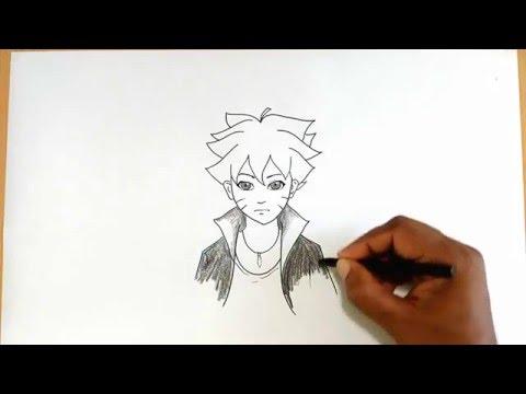 How to Draw Boruto Uzumaki from Naruto