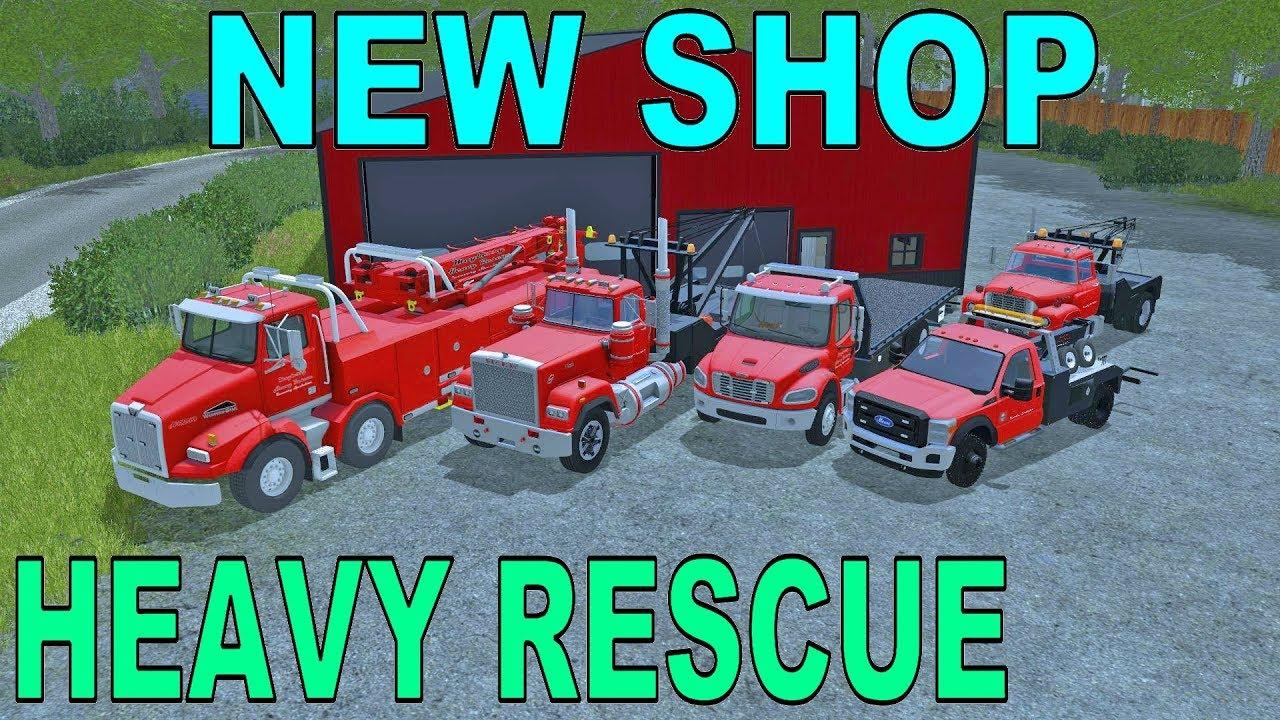 Farming Simulator 17 | New Heavy Rescue Headquarters | New Tow Trucks | New  Map