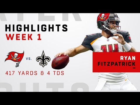 Ryan Fitzpatrick GOES OFF for 417 Yards & 4 TDs vs. Saints
