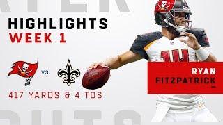 Ryan Fitzpatrick GOES OFF for 417 Yards & 4 TDs vs. Saints