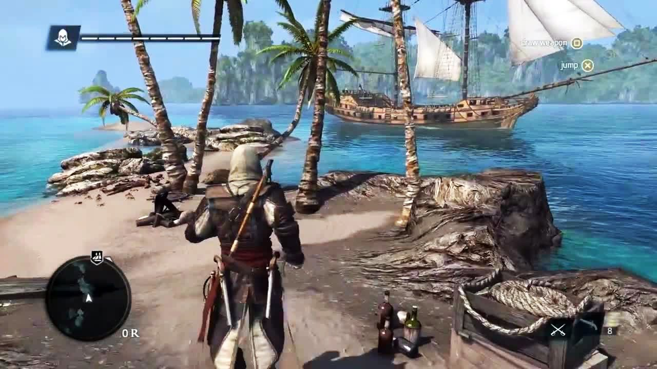 Ps4 Assassin S Creed 4 Open World Gameplay Youtube