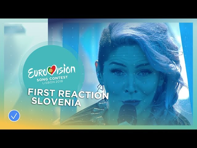 First reaction of Lea Sirk from Slovenia after winning EMA 2018