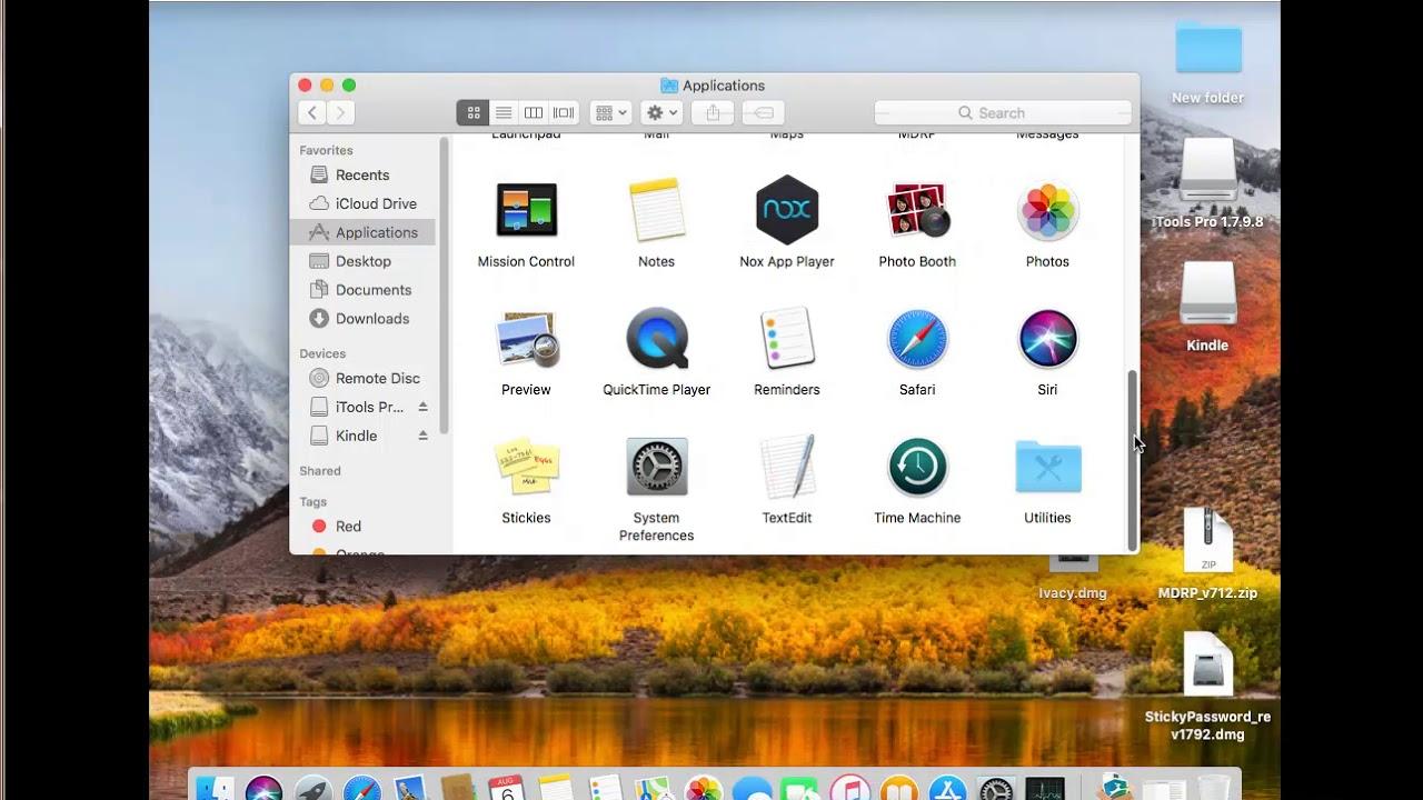 Uninstall Amazon Kindle for Mac High Sierra